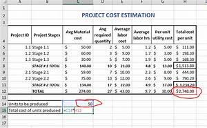 Best Excel Tutorial - Project cost estimator template