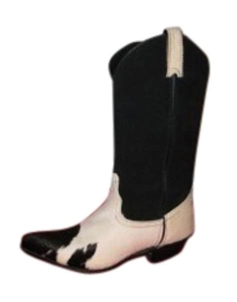 Black And White Cowhide Boots by Code West Black And White Cow Hide Cowboy With S Boots