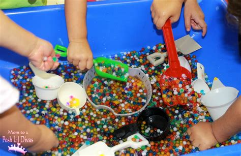the had a great time exploring 109 | Preschool wk1 water beads