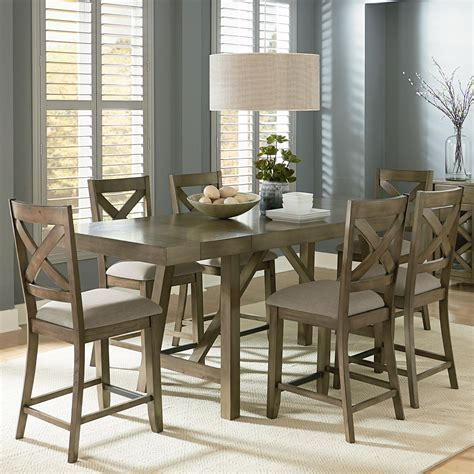 Counter Height 7 Piece Dining Room Table Set by Standard