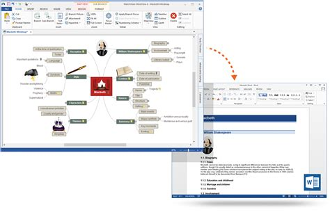 word tools mindview assistive technology mind mapping software