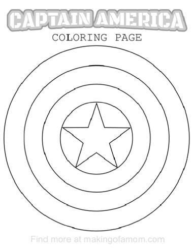 captain america coloring pages captain america shield