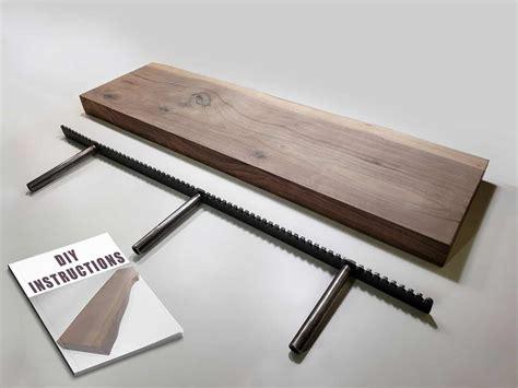 build    walnut floating shelf diy wood kit