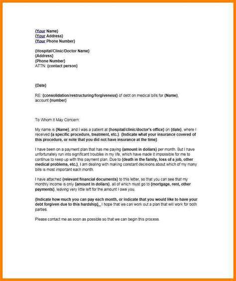 financial hardship letter  medical bills sample