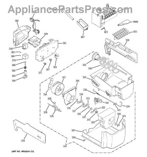 parts  ge pscnswcss ice maker dispenser parts