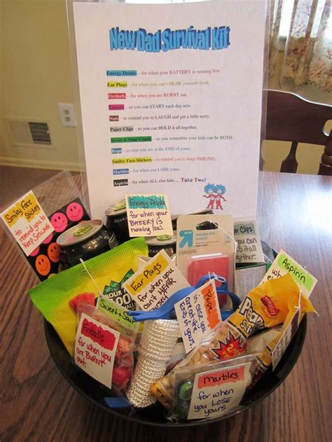 gifts for time dads new dad survival kit cute babyshower d a pinterest