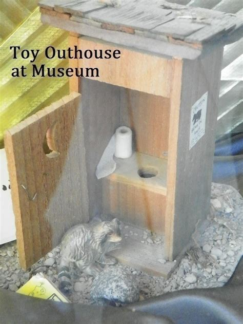 toy outhouse  doll accessory woodwork  engraving