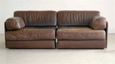 de sede ds 76 de sede ds 76 convertible leather sofa or chairs in chocolate leather for sale at 1stdibs