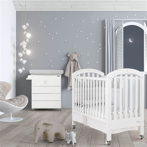 chambre bebe design chambre bb lit et commode white moon swarovski de micuna
