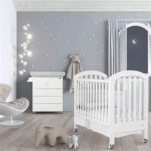 chambre bb lit et commode white moon swarovski de micuna With chambre bébé design avec bouquet naissance