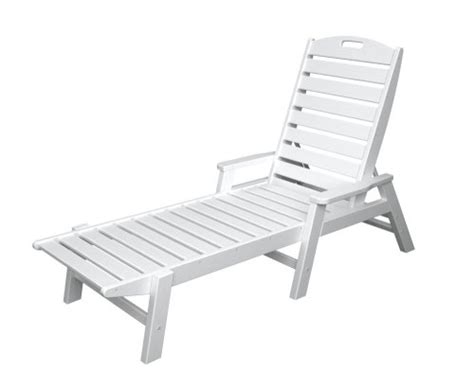 polywood outdoor furniture nautical stackable chaise