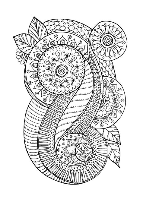 coloring page coloring zen antistress abstract
