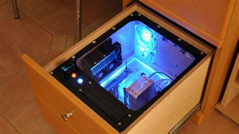 computer built into desk build a computer into your desk for easy upgrades hidden