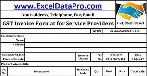 download gst invoice format for service providers in excel With letter of credit service providers