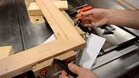 how to make picture frames Making a picture frame (make molding on the table saw) - YouTube
