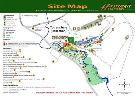 Site Map  Hosanna Farmstay