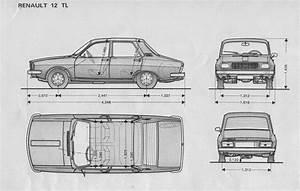 Renault 12tl Paper Model Car