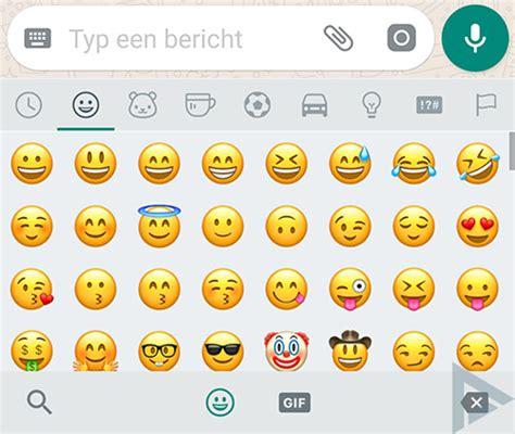 whatsapp  vormgeving emoji aan dit zijn de verschillen