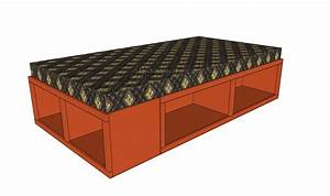 Twin Storage Bed Plans Pdf Diy Twin Storage Bed Diy