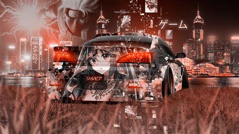 nissan silvia  jdm tuning anime girl aerography game naruto night city hong kong china car