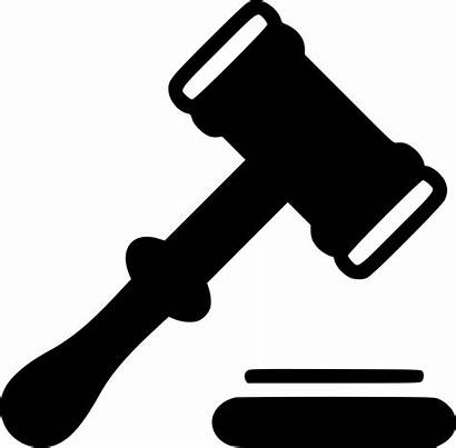 Judge Icon Hammer Legal Law Justice Action