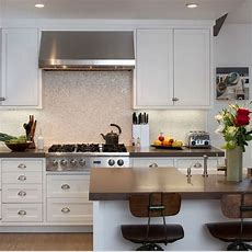 White Groutless 1 X 1 Mother Of Pearl Shell Tile Kitchen
