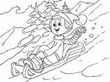 Coloring Tobogganing Winter Coloringpages4u Whoosh Colouring Lots Snowman sketch template