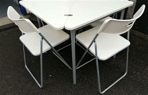 ikea foldable table 4 chairs furniture