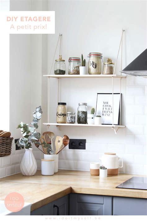une jolie etagere faite maison pour egailler votre cuisine
