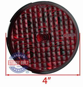 Led Round Red Trailer Light 4 Inch Sealed Recessed Mount