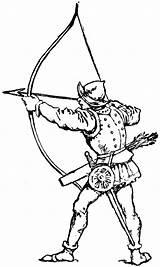 Archer Clipart Medieval Bow Drawing Archery Longbow Arrow Simple Etc Kleurplaat Broadhead Ausmalbilder sketch template