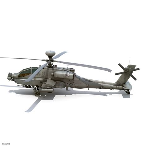 Boeing Ah-64d Apache Longbow Attack Helicopter 3d Model