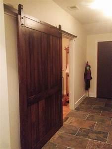 industrial barn door hardware with an alder wood barn door With 4 foot wide barn door