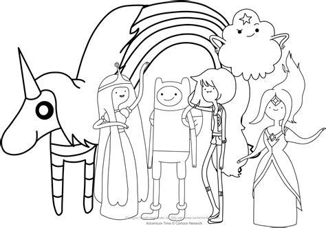 principesse disney da disegnare disegno di finn e le principesse adventure time da colorare