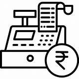 Register Cash Icons Icon Business sketch template