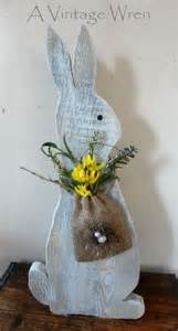 rustic easter bunny wooden bunny rustic decor painted rabbit prim decor