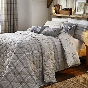Ludlow, Check, Natural, Brushed, Cotton, Bedding