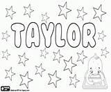 Taylor Boy Coloring Printable Nome Colorare Nomi Bambina Disegni Pintar Nen Nena Nom Ragazza sketch template