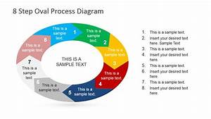 8 Steps Oval Process Diagram For Powerpoint