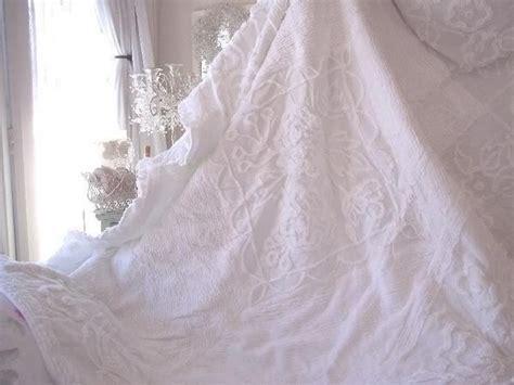 shabby chic velvet bedspread rachel ashwell shabby chic treasures white ruffled chenille pillow