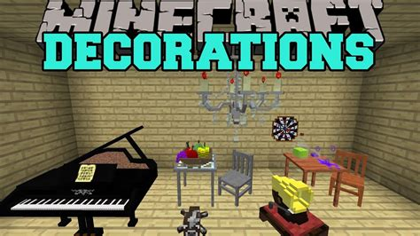 minecraft decorations toys furniture musical instruments  mod showcase youtube