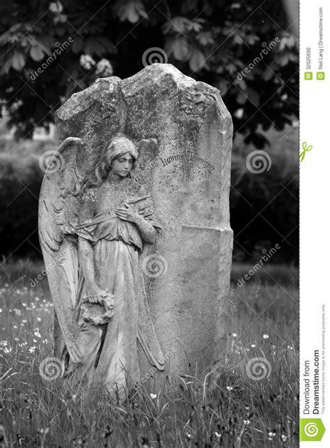 angel  blank headstone stock photo image