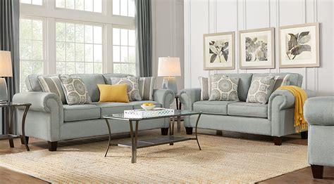 leather sofa set pennington blue 7 pc living room living room sets blue