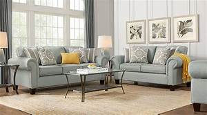 Pennington Blue 7 Pc Living Room - Living Room Sets (Blue)