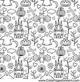 Halloween Coloring Collage Printable Adults Adult Colorpagesformom Fall sketch template