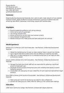 business development associate resume template best With business resume example