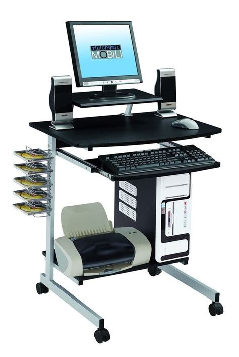 heavy duty rolling mobile computer desk keyboard laptop