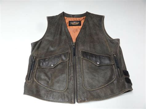 Harley Davidson Distressed Brown Leather Billings Mens