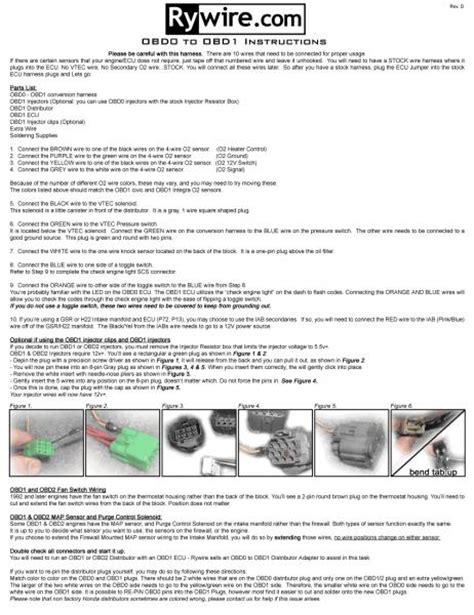 obd  obd distributor wiring page  honda tech