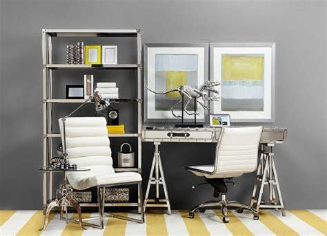 le de bureau deco déco bureau gris et jaune